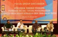 BPTJ gelar FGD tentang Opini Publik Terhadap Penerapan Permenhub 108/2017