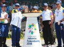 BRI Meriahkan Gelaran Kirab Obor Asian Games 2018 di Denpasar
