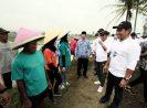 Milenial BUMN Diajak Peduli Petani, Gerakan Kawal Masa Tanam Sentuh Banyumas