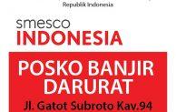 Smesco Indonesia Buka Posko Banjir, Bantuan Mulai Berdatangan