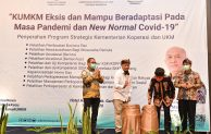 Bangkitkan Ekonomi di Tengah Pandemi, Teten Masduki Aktif Dampingi Pelaku UMKM di Kabupaten Garut